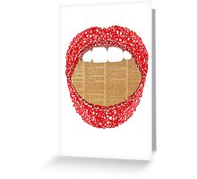 Fill your mouth with the right words Greeting Card