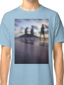 Chillout silhouette of people walking on beach dusk sunset evening sky Hasselblad medium format film analogue photo Classic T-Shirt