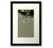 asphalt Framed Print