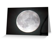 "October ""Blood"" Moon Greeting Card"