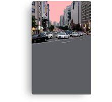 pink sky boulevard Canvas Print