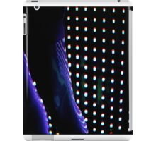 Futuristic shop dummy mannequin at night in led light effect analogue film photograph iPad Case/Skin