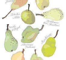 9 Pears in Green by CeliaThonet