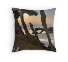 The Wreck of the SS Dicky Throw Pillow
