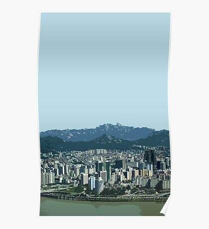 seoul view Poster
