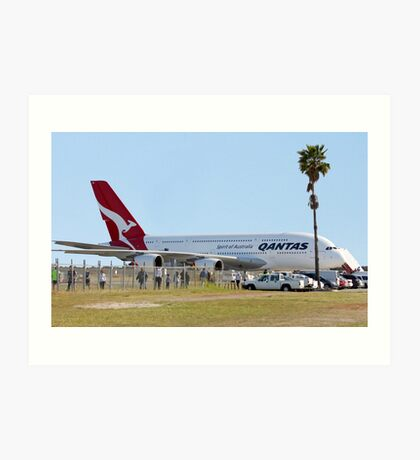 Qantas A380 At Perth Airport  Art Print