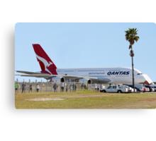 Qantas A380 At Perth Airport  Canvas Print
