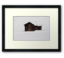 Wooden barn Framed Print