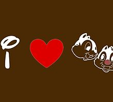 I Heart Chip 'n' Dale (Classic Logo) (Inverted) by ShopGirl91706