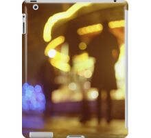 People walking in street at night with fairground lights in Hasselblad vintage camera analogue film photo iPad Case/Skin