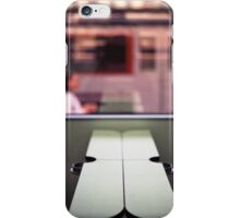 Train table and station Hasselblad medium format 120 square 6x6 negative c41 color analogue photograph iPhone Case/Skin