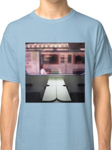 Train table and station Hasselblad medium format 120 square 6x6 negative c41 color analogue photograph Classic T-Shirt