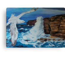 Seagull and the Power Canvas Print