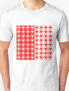 Red heart White heart-2 T-Shirt