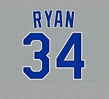 Nolan Ryan Jersey by BaseballBacks