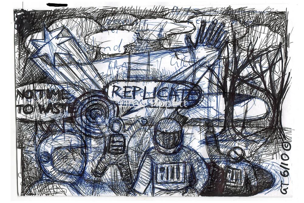 An attempt to draw robots.  by Greg Tippett
