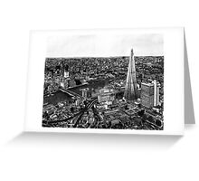 London Skyline Biro drawing Greeting Card