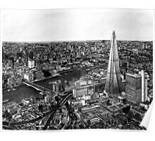 London Skyline Biro drawing Poster