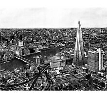 London Skyline Biro drawing Photographic Print