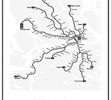 Stockholm Subway Map Geographic by vanaltena