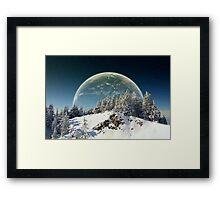 Surreal winter Framed Print
