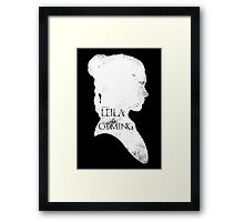 leila is coming Framed Print