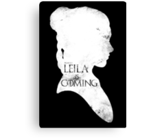leila is coming Canvas Print