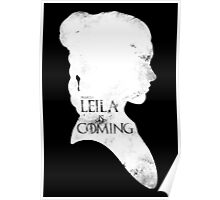 leila is coming Poster
