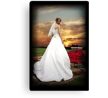 Sunset Bride Canvas Print