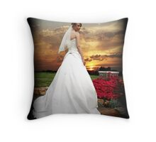 Sunset Bride Throw Pillow