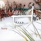 "A Throne of White ""Sorry"" ~ Greeting Card by Susan Werby"