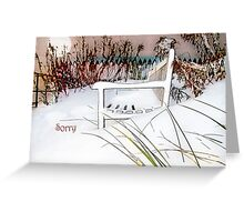 "A Throne of White ""Sorry"" ~ Greeting Card Greeting Card"