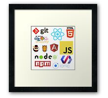 Javascript Stickers, Mugs, T-shirts and Phone cases Framed Print