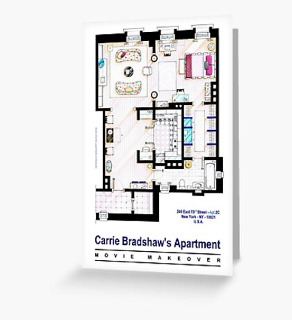 Carrie Bradshaw apt. (Sex and the City movies) Greeting Card