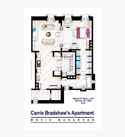 Carrie Bradshaw apt. (Sex and the City movies) Photographic Print