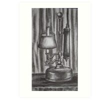 Antique lamp in charcoal Art Print