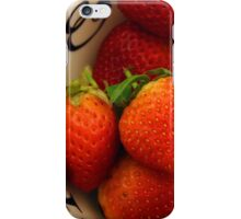 day 41: red week (strawberries) iPhone Case/Skin