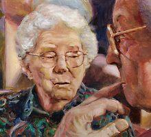 Two Ladies Talking by dbclemons