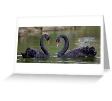 Black Heart Greeting Card