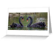 Black Heart Greeting Card