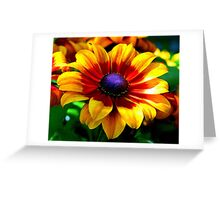 A Flower In Fall Coloring... Greeting Card