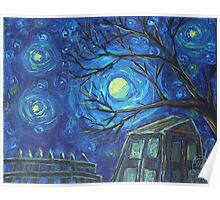Oil Painting  - Backyard Moon. 2012 Poster