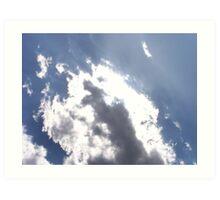 Sun Behind the Clouds Art Print