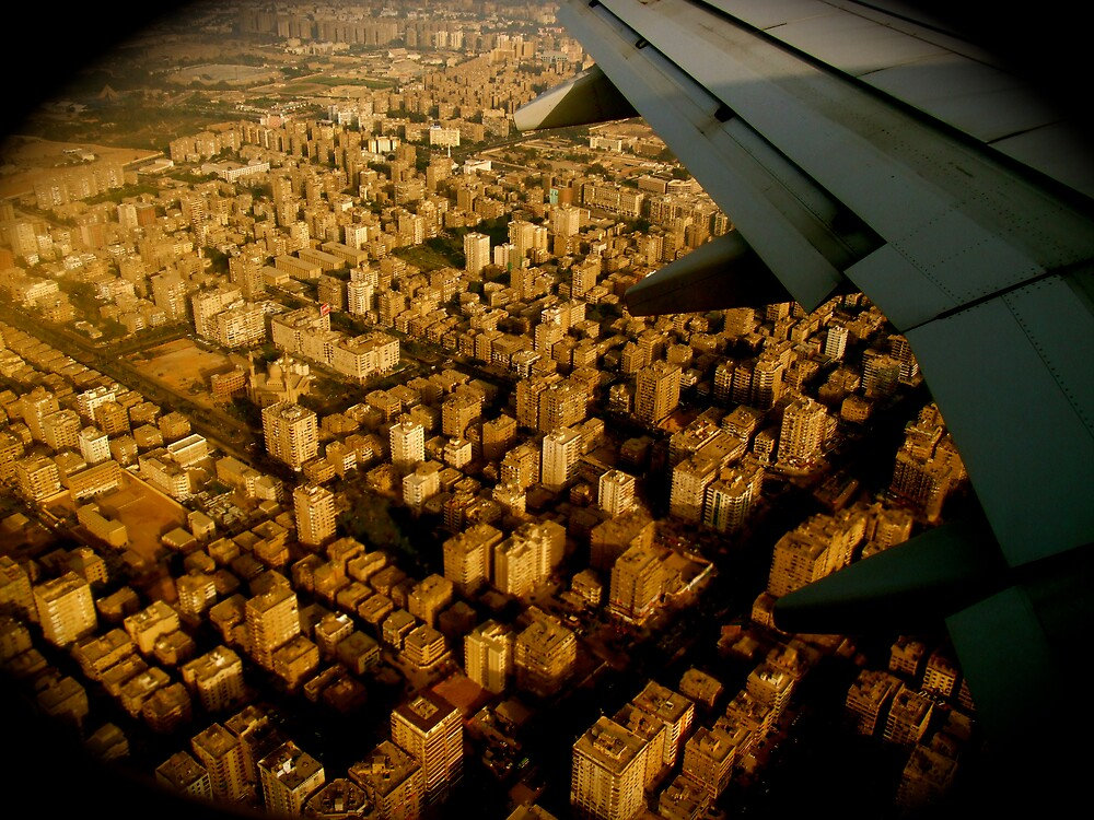 cairo from the air (egypt) by annonymouse