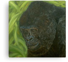 """""""If you could read my mind"""" - Gorilla Oil painting Canvas Print"""