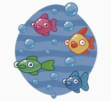 Fish and Bubbles Kids Clothes