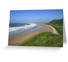 Rhosilli Bay Greeting Card