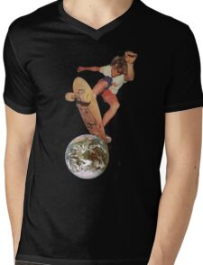 SK8 @ EARTH Mens V-Neck T-Shirt