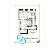 Carrie Bradshaws apartment as a Poster (Movie version) Art Print