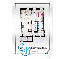 Carrie Bradshaws apartment as a Poster (Movie version) Poster
